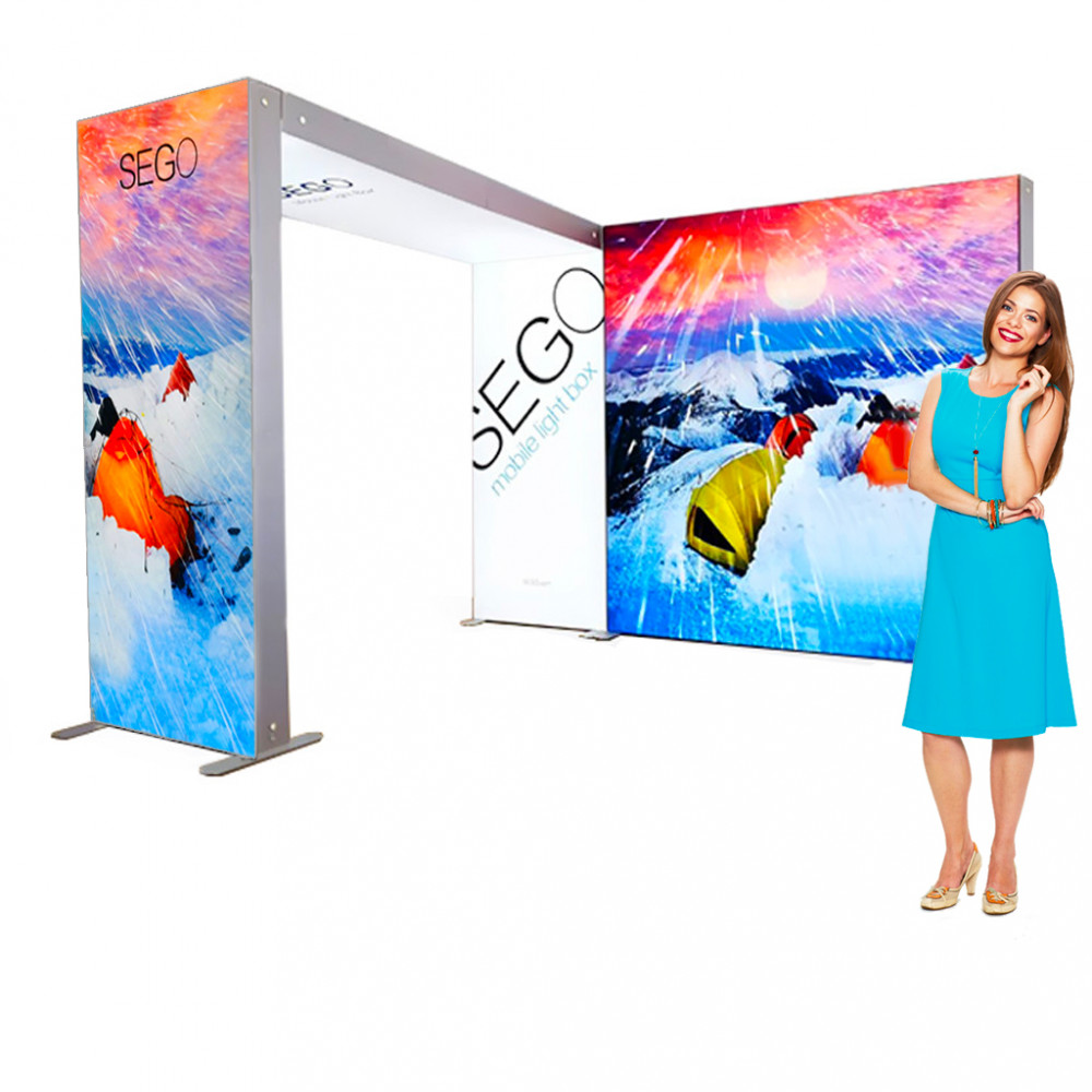 Sego Mobile Light-box 10x10 Trade Show Booth, Portable and Easy Set Up