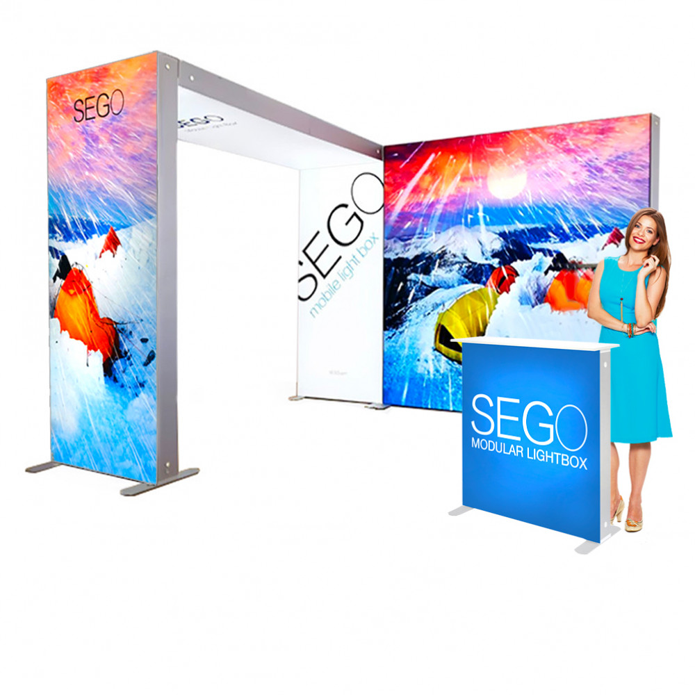 Sego Kit C 10-ft x 10-ft Backlit Display Booth with Archway