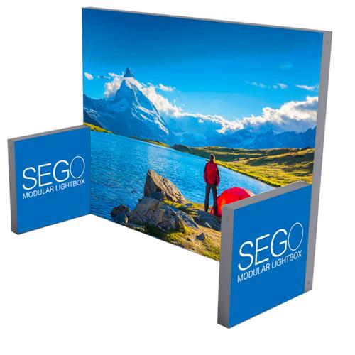 Sego Kit E 10ft wide Lightbox Backwall Display
