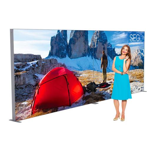 Sego Kit A 20ft Backlit Modular Back Wall Display
