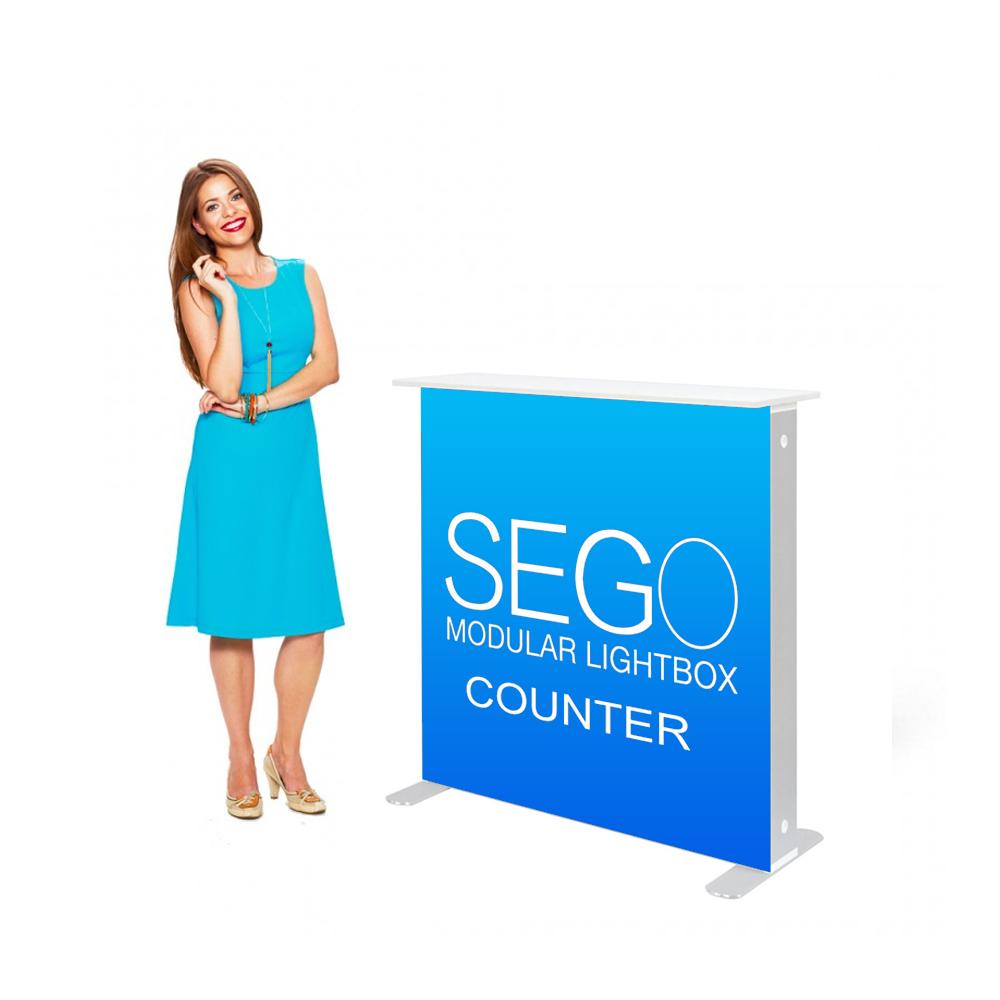 Sego Backlit Counter Display 3.5ft x 3.5ft with SEG Graphics