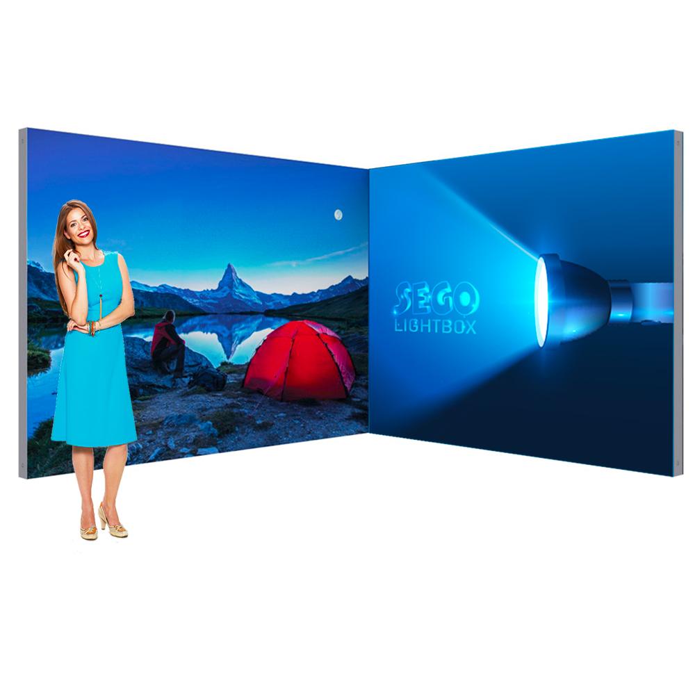 Sego Kit B 10ft x 10ft Backlit Corner Booth Display