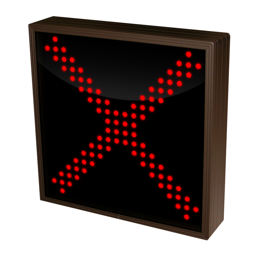 Large Red X LED Sign with Triple Lights 120-277 VAC, 10x10