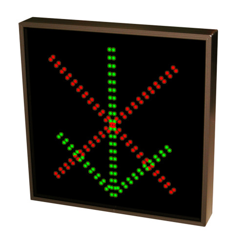 Down Arrow and X Stop and Go LED Sign 120-277 VAC, 18x18