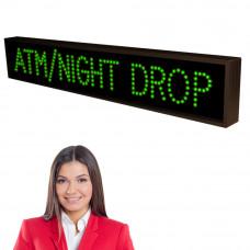 LED ATM Bank Lane Sign ATM / NIGHT DROP Message 7x42