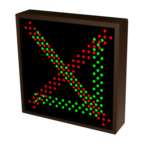 Down Right Arrow and X LED Sign with Triple Lights 120-277 VAC, 10x10