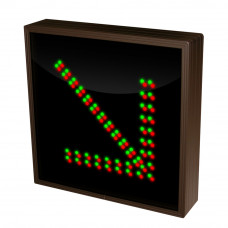 """LED Arrow Sign Down Right in Red & Green Lights 12"""" x 12"""""""