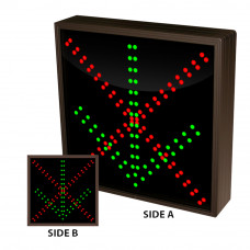 """LED Double Sided Arrow Sign Green Down and Red X Display 12"""" x 12"""""""