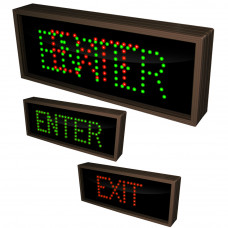 Outdoor Traffic Control Sign ENTER, EXIT LED Sign 7x18