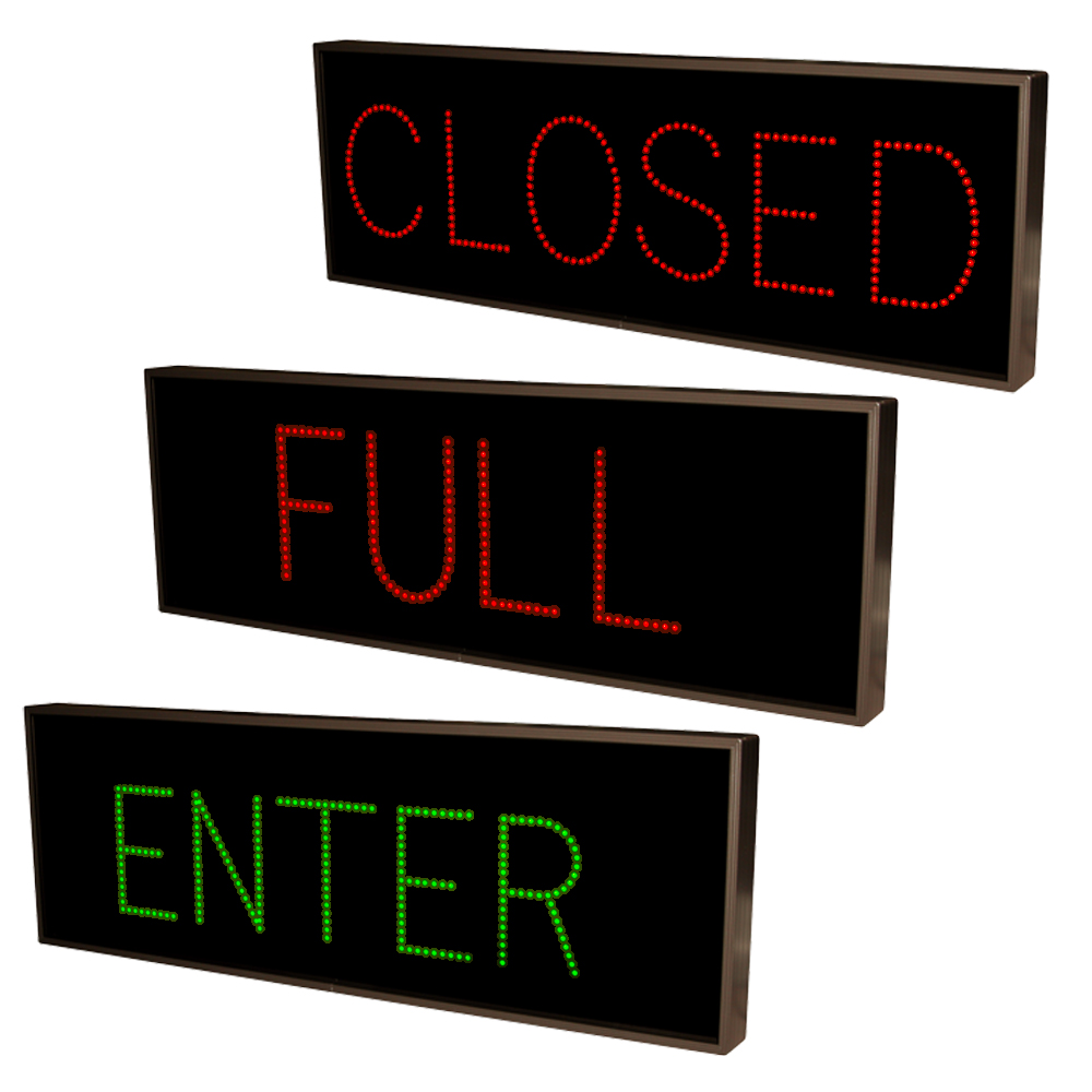 Outdoor Parking Lot Sign ENTER, FULL, CLOSED LED Sign 14x42, Bright LED Lights