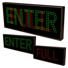 Outdoor Parking Sign ENTER, FULL LED Sign 14x34 Double Lights