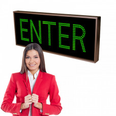 Large LED ENTER Sign with Double Rows of Bright Lights 12x34
