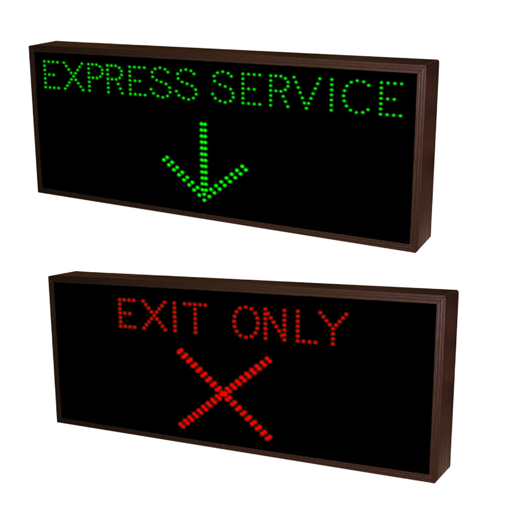 Express Service and Exit Only LED Sign 120-277 VAC, 20x42