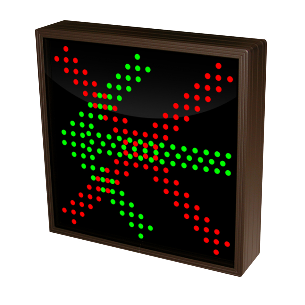 Left Arrow and  X Sign with Triple LED Lights 120-277 VAC, 10x10