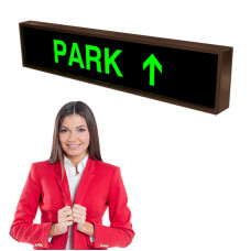 LED PARK with Arrow Directional Parking Signs 7x34