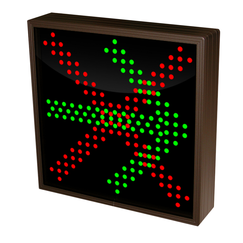 Right Arrow and  X Sign with Triple LED Lights 12-24 VDC, 10x10