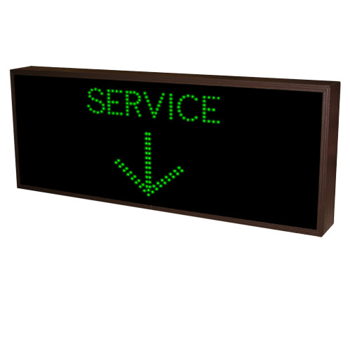 Service with Down Arrow LED Sign 120-277 VAC, 20x42