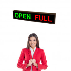 LED OPEN FULL Parking Sign with Bright LED Lights 7x34