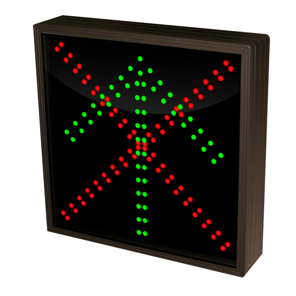 Up Arrow and X Sign with Double Lights 12-24 Volt, 12x12