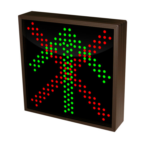 Up Arrow and X  Sign with Triple LED Lights 120-277 VAC, 10x10