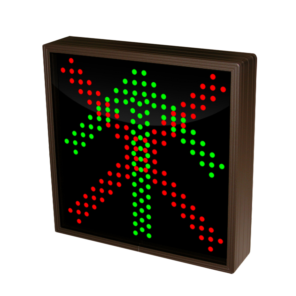 Up Arrow and X Sign with Triple LED Lights 12-24 VDC, 10x10