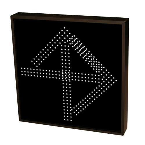 Up Arrow and Right Arrow Sign with White Lights 120 -277 VAC 22x22
