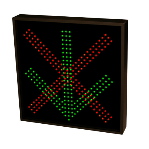 Down Arrow and  X LED Sign with Triple Lights 120-277 VAC, 22x22
