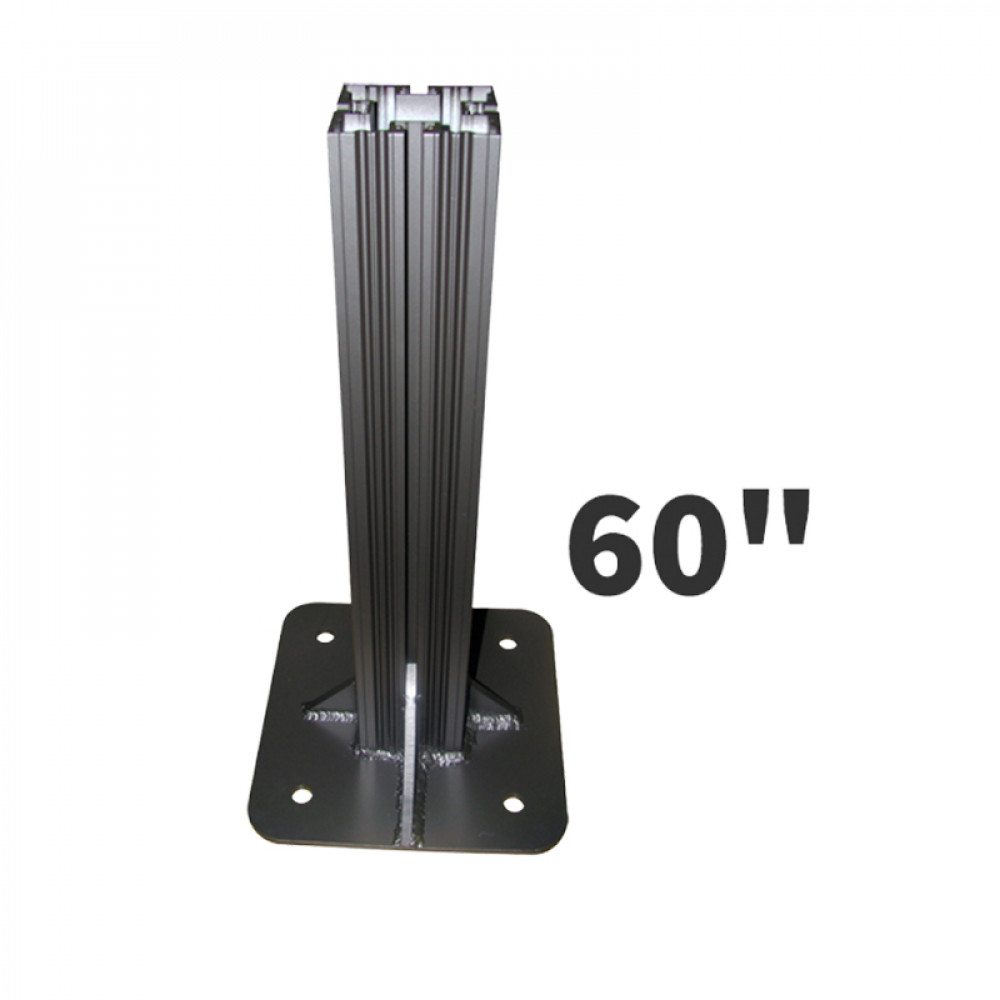 Heavy Duty Decorative Sign Post 60 inches High 4x4 with 12x12 Base Plate