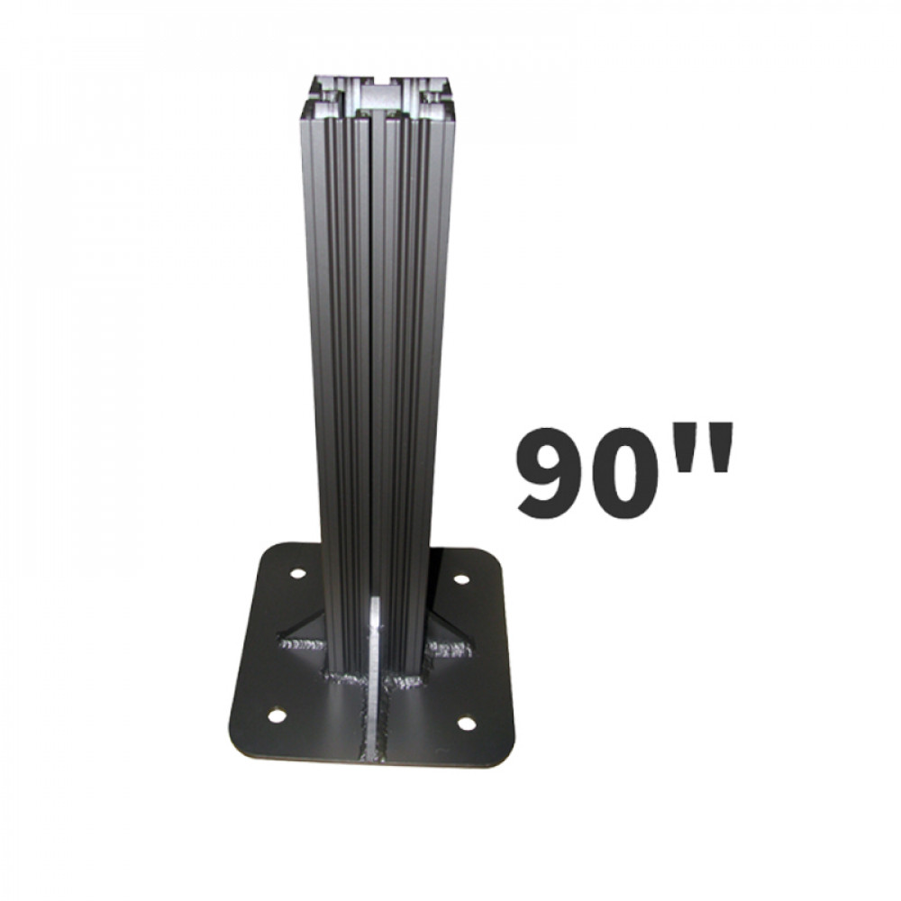 Heavy Duty Decorative Sign Post 90 inches High 4x4 Post with 12x12 Base Plate