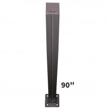 Sign Post 90in Tall with 6in Square Baseplates for Surface Mounting