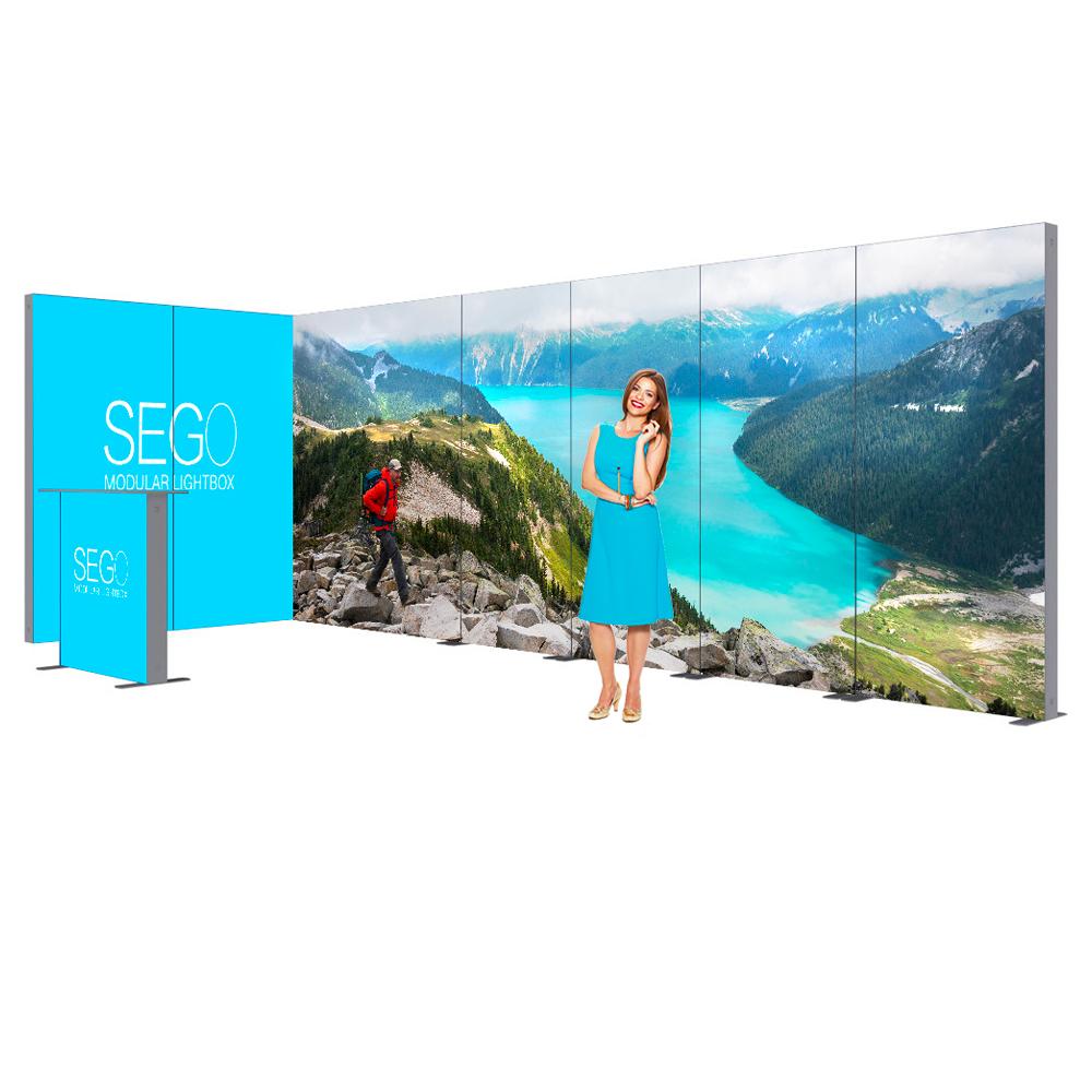 Sego Kit H 20ft x 10ft Backlit Exhibit Booth