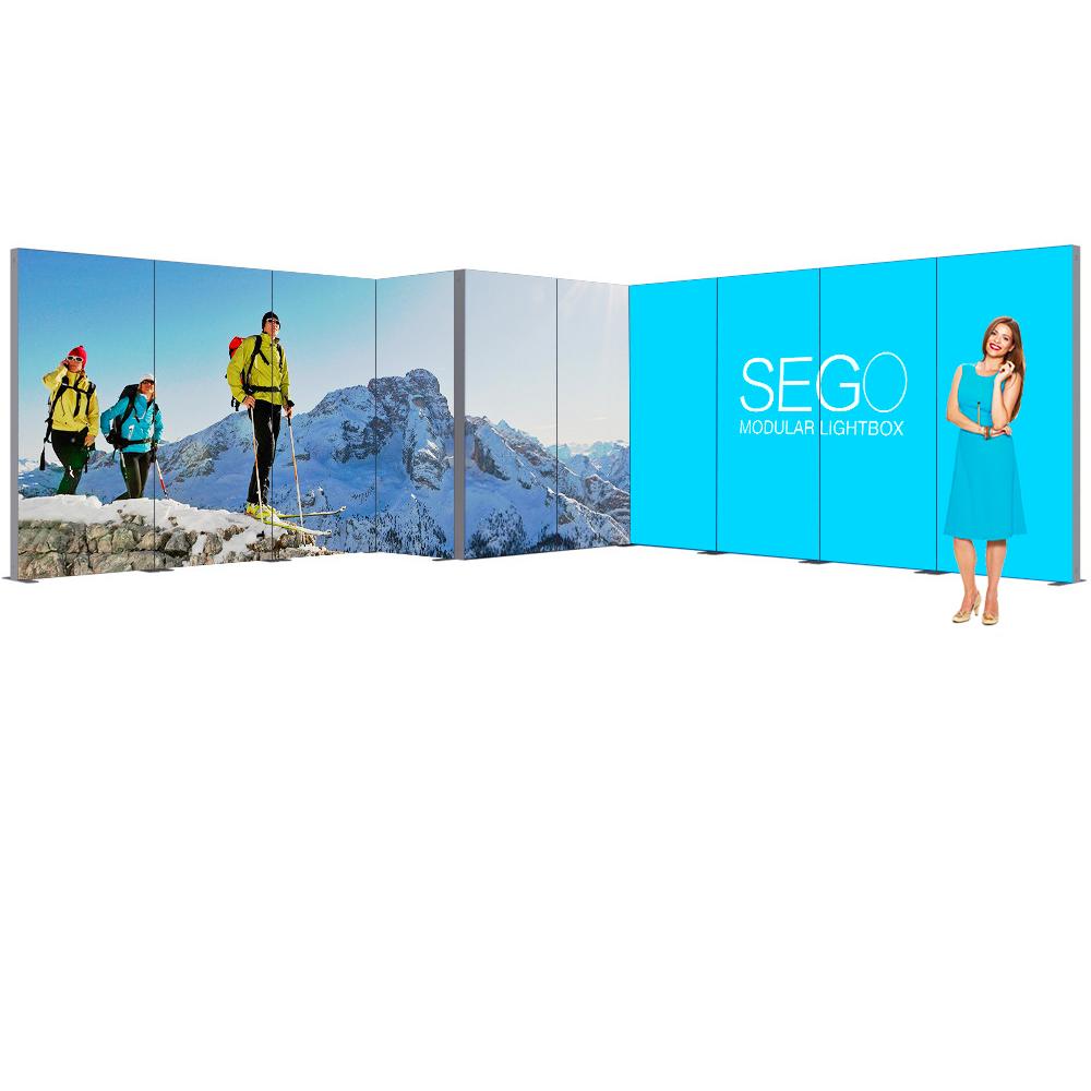 Sego Kit I 20ft x 20ft Backlit Exhibit Corner Booth