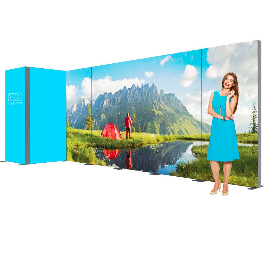 Sego Kit J 20ft Backlit Exhibit Booth with Storage Corner