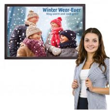 Flip Up Frame Poster Sign 24x36, Slim Profile, Color Options
