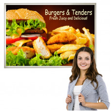 Slide In Poster Frame 24 x 36, Slim Profile with 15 Color Options