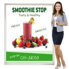 Slide In Graphic Poster Frame 48x60 Slim Profile Indoor or Outdoor