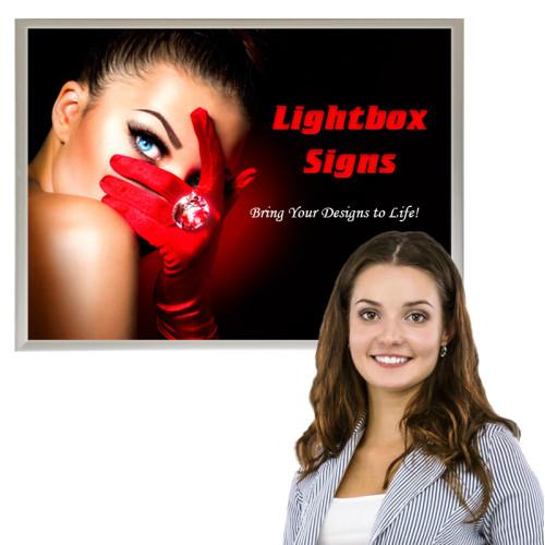 Slim LED Light Box Sign 24x36, Poster Snap Frame