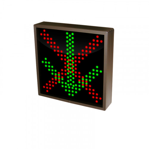 Down Arrow and Red X Lane Sign Triple LED's 120-277 VAC, 10x10