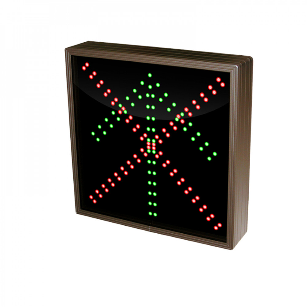 Up Arrow LED Sign with a Red X 120-277 VAC, 12x12