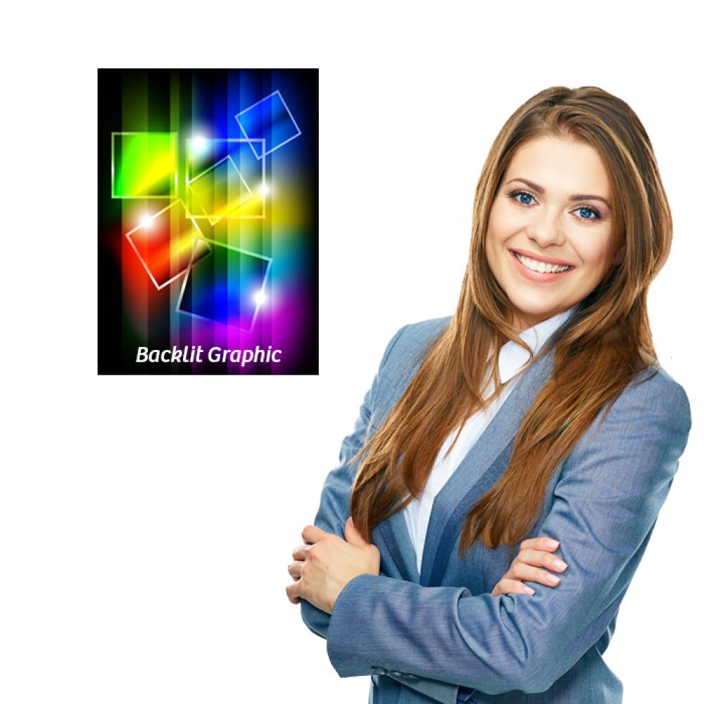 Backlit Graphic 12 x 17 Custom Printed, Photo Quality
