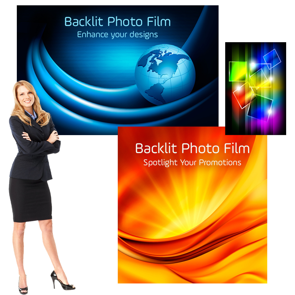 Lightbox Posters Printed on Backlit Film, Photo Quality Indoor