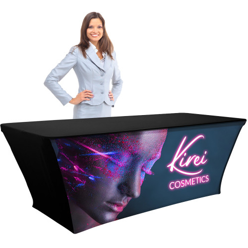Table Throw 8ft Backlit Fabric with Lights, Custom Branded
