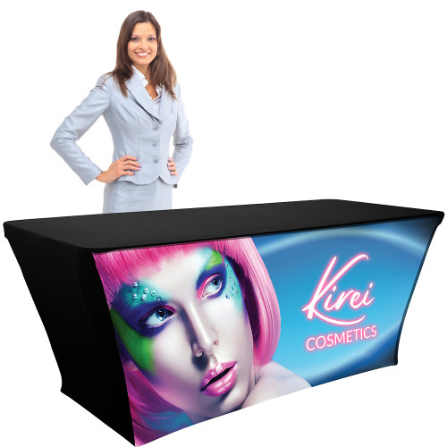 Table Throw 6ft Backlit Fabric with Lights, Custom Branded