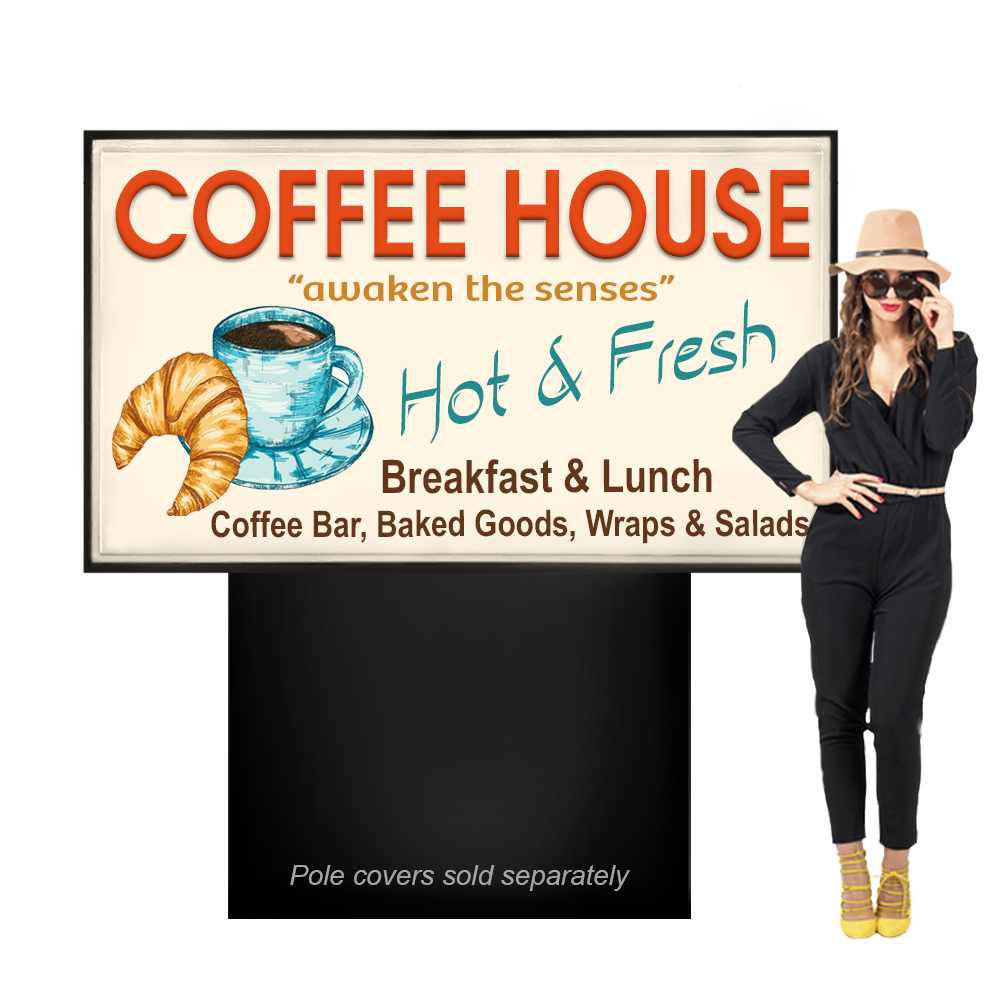 Outdoor Light Box Sign 4ft x 6ft Double Sided Business Sign