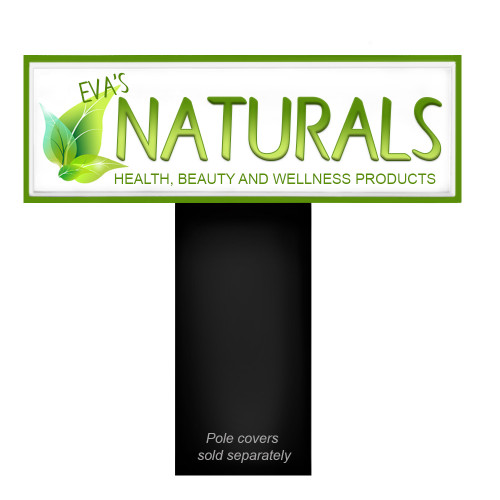 Outdoor Light Box Sign 2ft x 6ft Double Sided Storefront Sign