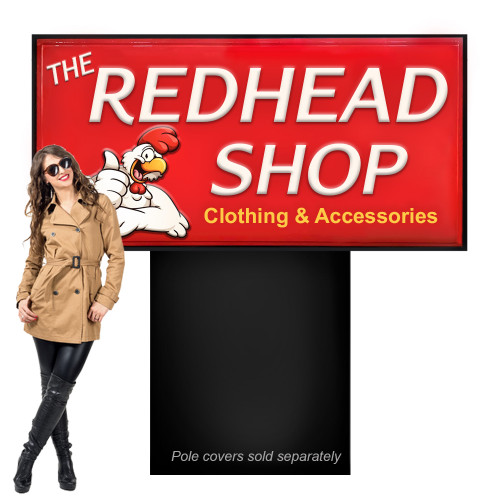 Outdoor Light Box Sign 3ft x 6ft Double Sided with Pan Faces