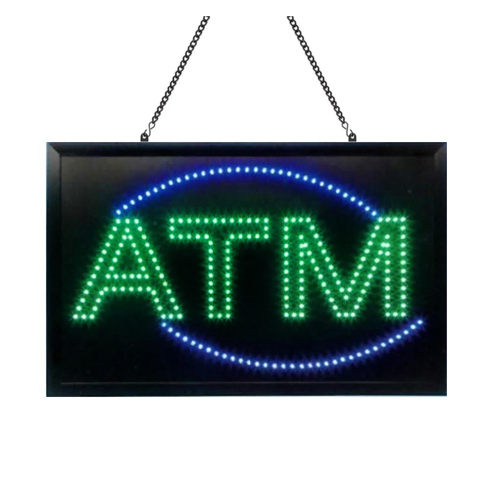 Animated LED ATM Sign, 22x14 Bright Flashing Lights