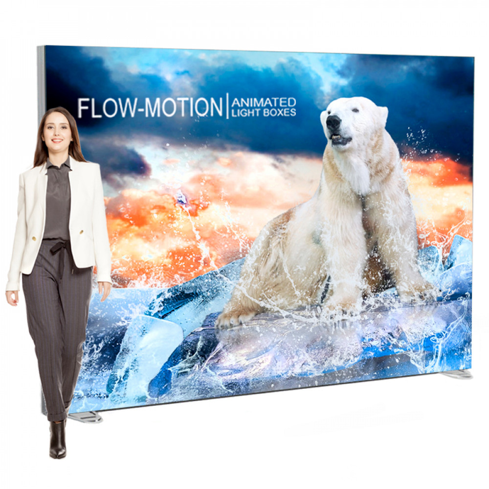 LED Animated Lightbox Display 120x82 Freestanding, Includes Animation