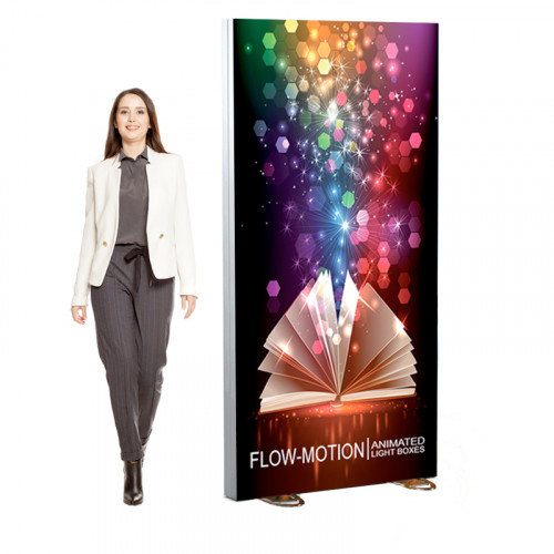 Freestanding Dynamic Lightbox Display 41x82 Includes Animation