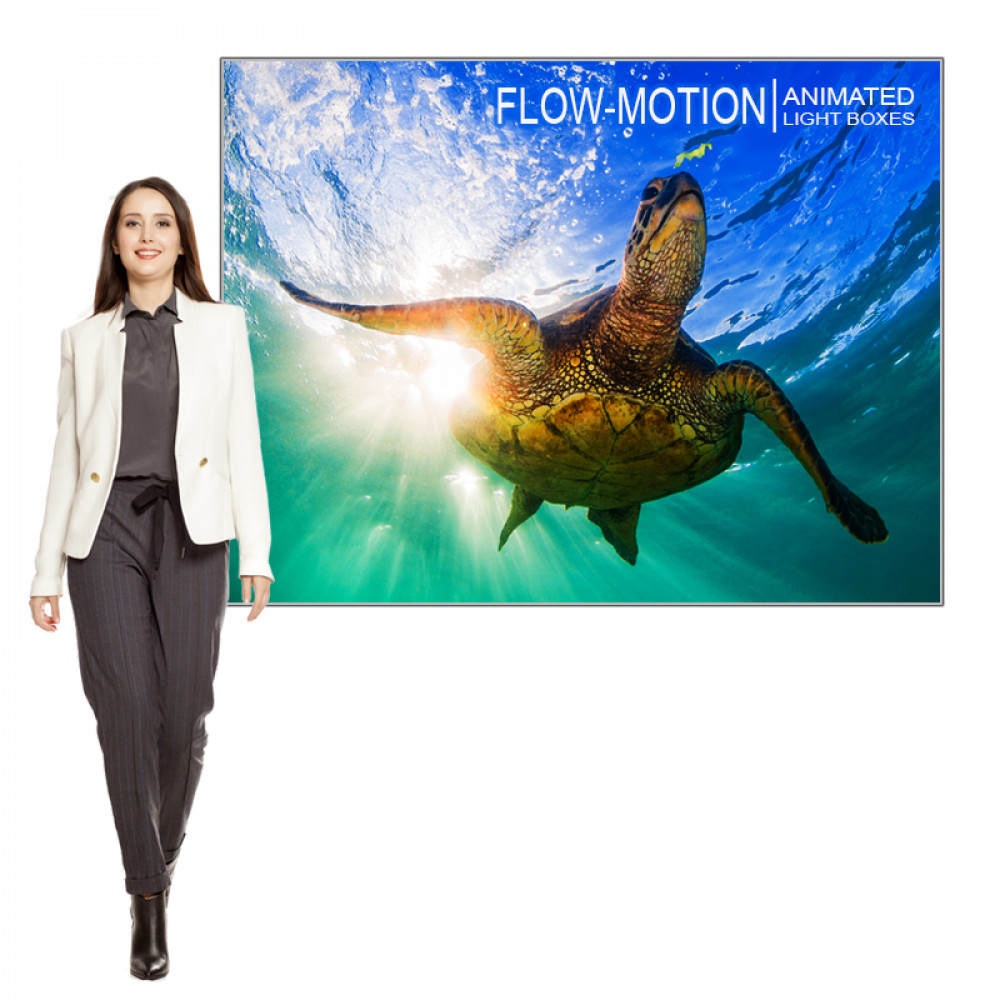 LED Animated Light Box Fabric Frame  61x42 includes Graphic and Animation